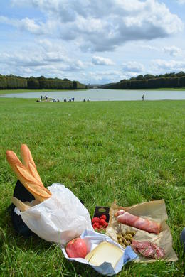 We picked up some great items at the huge Versailles outdoor market before continuing on bike to the grand canal for our lunch break...Bike ride was awesome around the grounds and then we went on..., KIM C - September 2014