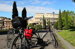 Cycling through Rome with Marco , Sebastian M - May 2014