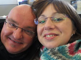 Darren and Tracey Taylor excitedly waiting for the flight!!!!! , Darren T - January 2014