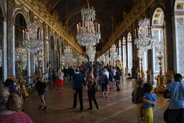 Simply beautiful!! The Grand Gallery of the chateau, and also known for being where the Treaty of Versailles was signed, putting an end to World War I. , Jeff & Kathy - July 2012