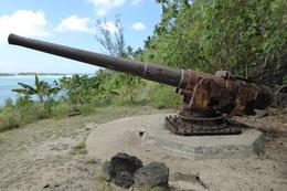 WW2 Gun Placement above Faanui Bay , Neville B - October 2017