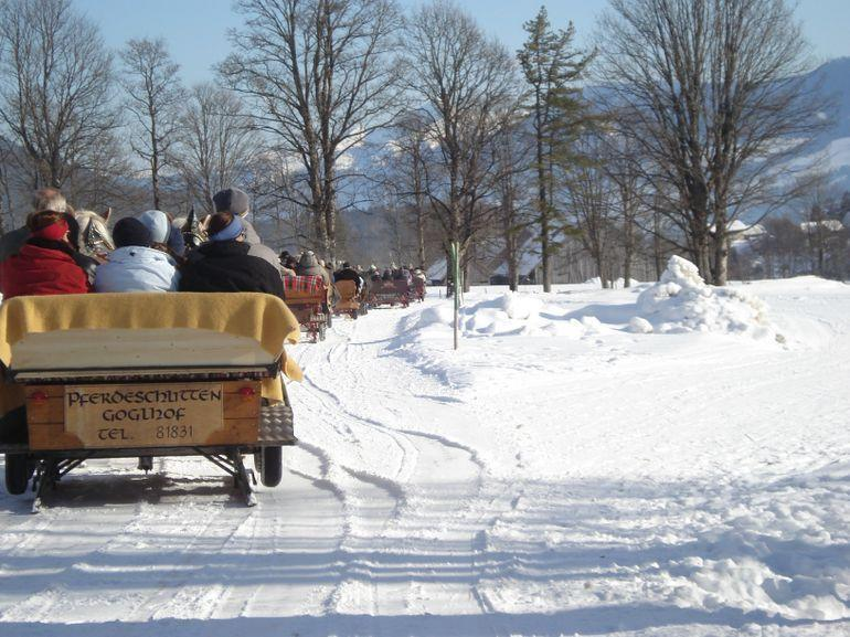 Beautiful sleigh ride - Salzburg