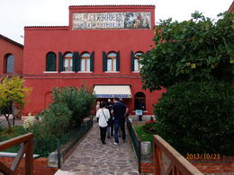 On my way inside the Burano glass factory. , McKenzie L - October 2013