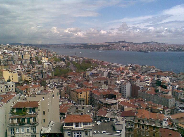 Galata tower city panorama - Istanbul