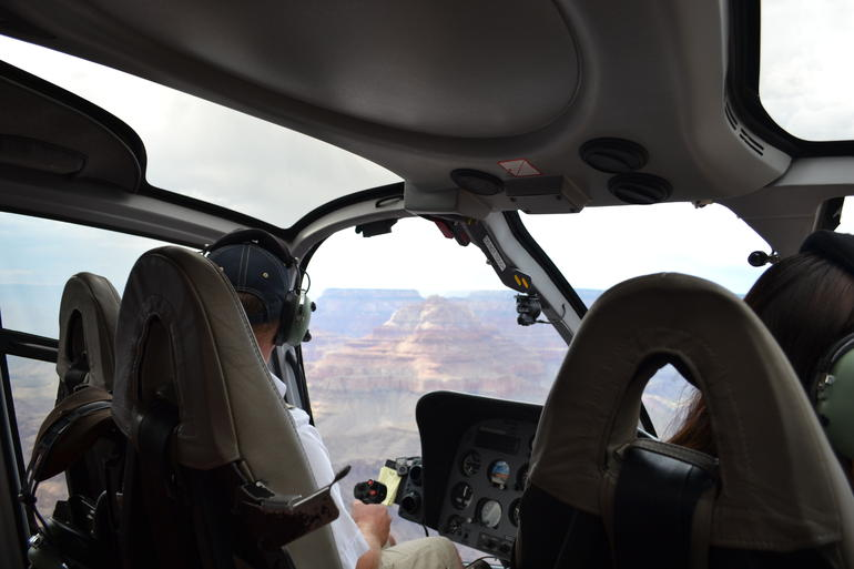 In the helicopter - Grand Canyon National Park