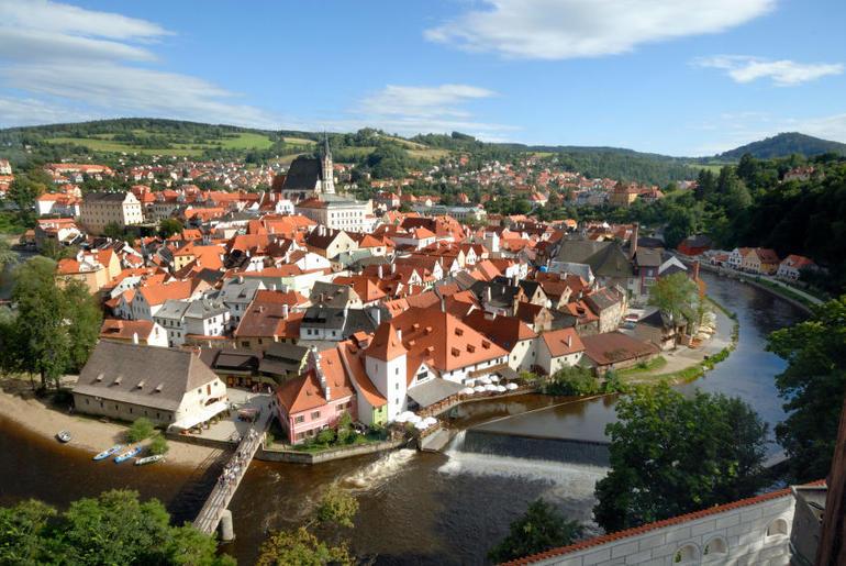View, Cesky Krumlov - Prague