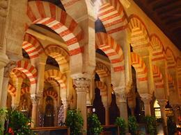 The Mezquita's iconic arches, Rachel - January 2014