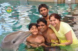 Family Photo at Blue Lagoon, Bahamas , Madhusudan V - August 2016