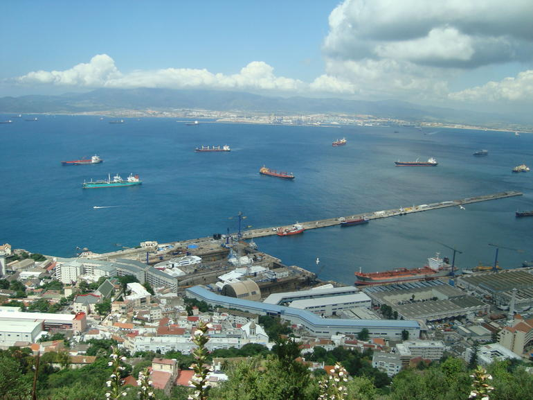 Breath taking view of the Mediterranean from the Rock of Gibraltar - Costa del Sol