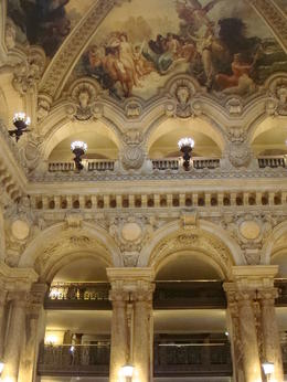 The main entrance to the Opera Garnier, Emily - March 2013