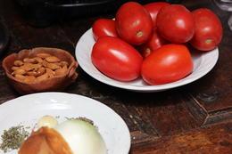 Fresh ingredients to make our salsa, Bandit - December 2013