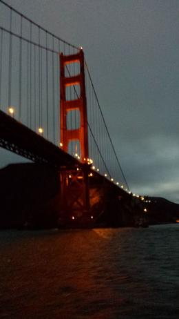 Here is just one of the breathtaking photos I took while going under the Golden Gate Bridge. This Sunset Tour was amazing! , Jessie H - September 2014