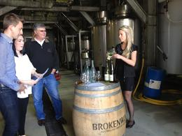 Wine tasting at Brokenwood Cellars, Cat - December 2013
