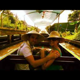 Long Tailed Boat ride through the Canals. This is the route you take to get to the floating market. This was the best part of the ride. You get to see how the people live and go about their daily ... , coxo01 - June 2012