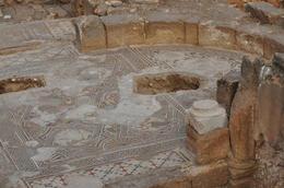 One of the mosaic floors , Jerusalem Expert: Shmuel - February 2011