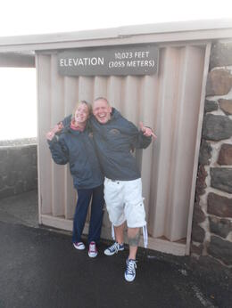 Proof that Pip (my beautiful girlfriend) and myself (Nigel) survived the cold with 2 awesome jackets bought from the visitor centre and both had an amazing tour up Haleakala to view an unforgettable ... , Nigel K - September 2012
