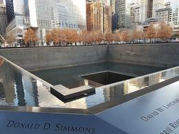 9/11 memorial site , Yvonne - November 2016