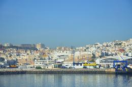 Traveling into the Moroccan port on the Ferry , kands - November 2012