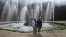 My partner and I at one of the wonderful Versailles Fountains. , Robert F - April 2013
