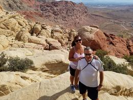 Me and the wife at the top calico overlooking Vegas. A fun hike! , Marc C - October 2016