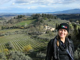 This was me outside of the city of San Gimignano! , Cassandra B - March 2015