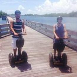 My friend and I taking a scenic picture on SEGWAYS! , Luis C - August 2014