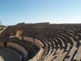 The ruins of the small Roman colloseum near the sea in Tarragona. - January 2008