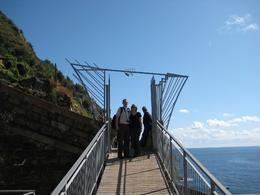 Here we are about to enter the 1 mile path of Lovers' Lane in Cinque Terre. It was breathtaking and this walk will always stay with us in our hearts! Perfect for us newlyweds!, Cynthia W - October 2009