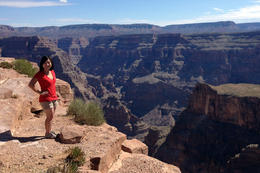Jules at the Grand Canyon, Jules & Brock - August 2012