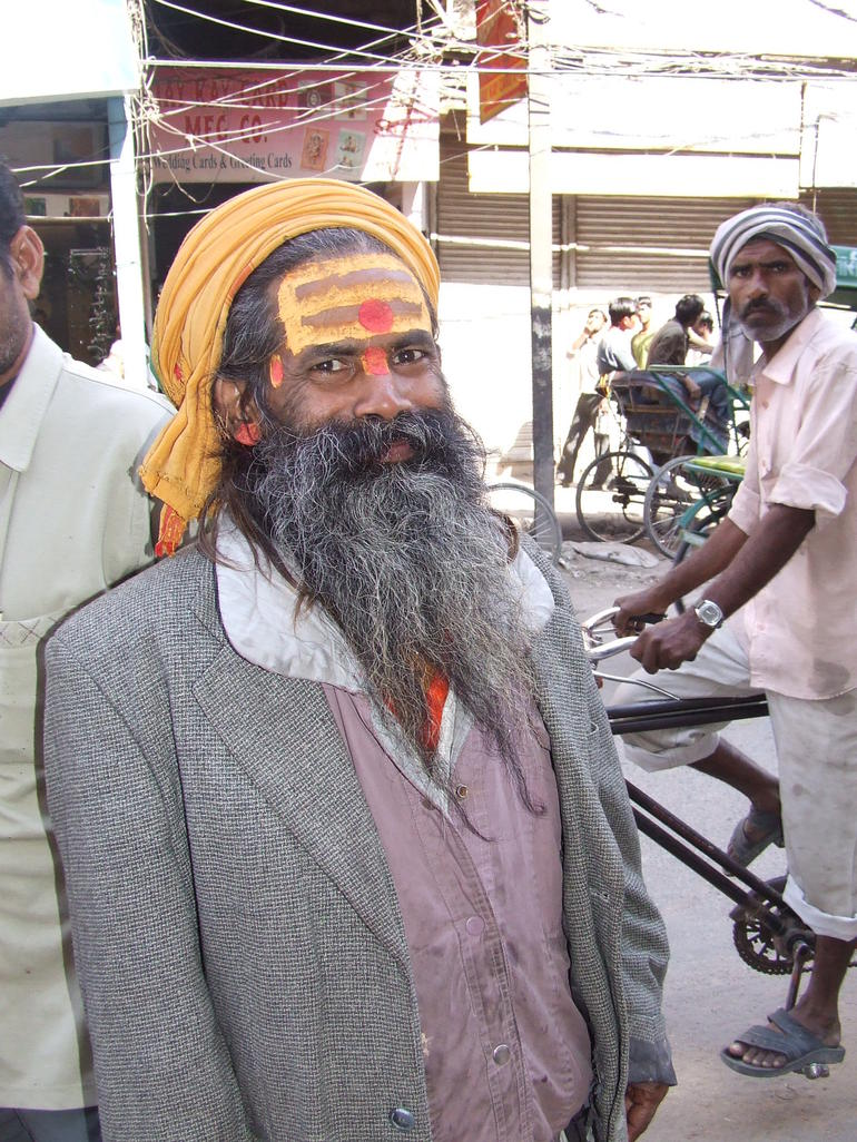 Interesting man - Old Delhi - New Delhi