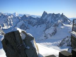 Another view from the summit of L'Aiguille du Midi., Marie W - December 2009