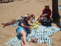 On the beach at Hanauma Bay in Hawaii - July 2009