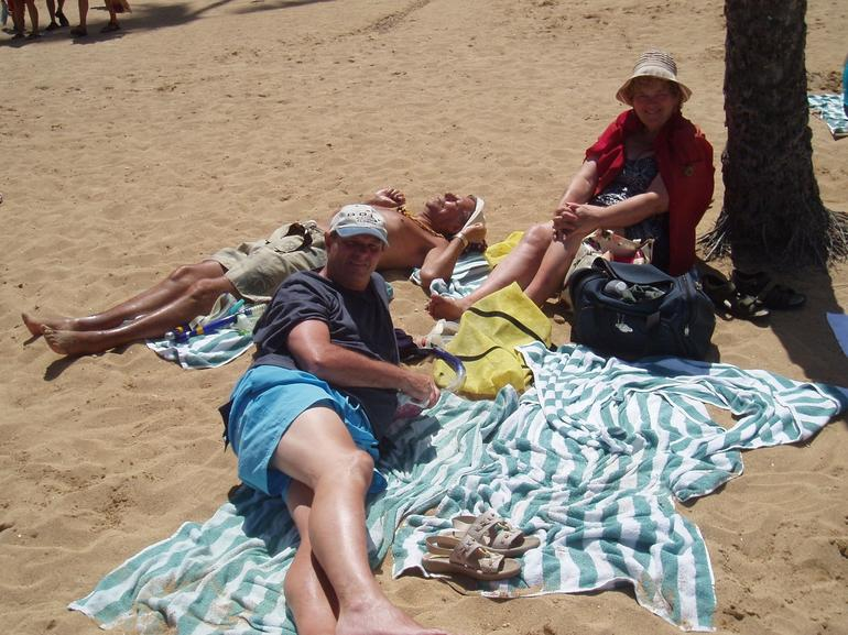 On the Beach at Hanauma Bay in Hawaii - Oahu