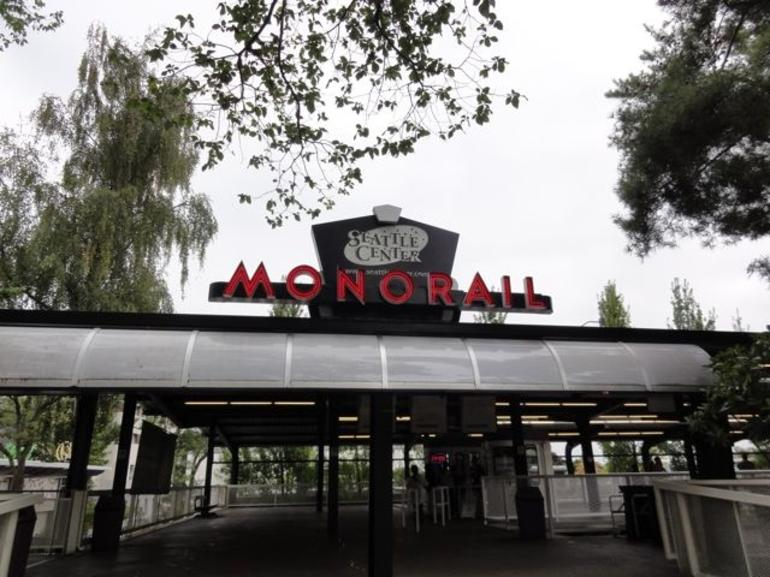 Seatlle Monorail at the Space Needle - Seattle