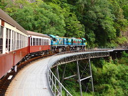 The scenic railway journey to Kuranda has great views of the rain forest and waterfalls. , Kevin F - June 2014