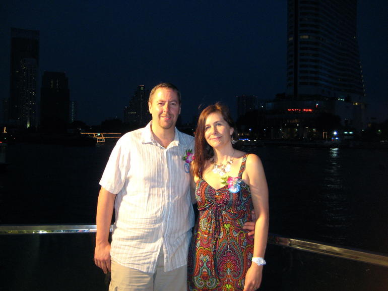 Waiting to board our cruise - Bangkok