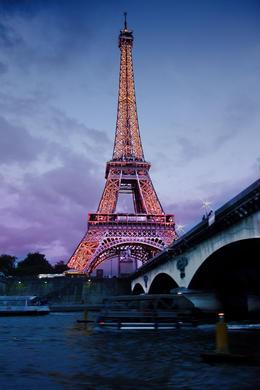Eiffel tower near the Seine , Robert C - August 2013