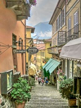 One of Bellagio's picturesque streets.. , Richard P - August 2016