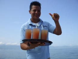Carlos and our rum punches! , Alana M - July 2012