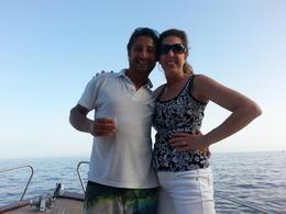 Fabio and Kathy~ enjoying some Limoncello :) , Kathy V - October 2014