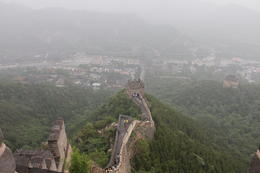 The view from No. 9 Beacon Tower on the Great Wall at Juyongguan , Pencefn - June 2012