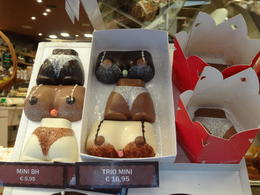 Some of the more artistic chocolate on sale. , Devton E - July 2013