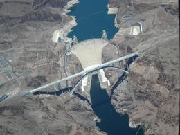 view of hoover dam from plane , Lawrence B - June 2012