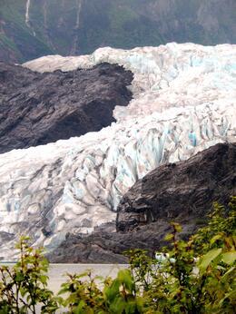 Mendenhall Glacier...definitely worth the walk through the trails to get a closer peek :) , Dawn B - June 2014