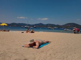 On the beach St.Tropez. , Catorina - August 2012
