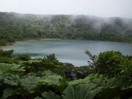 Lake formed in dormant crater, Poas Volcano - June 2011