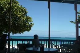 this is the view from lunch at Shoal Bay , Laura G - January 2014