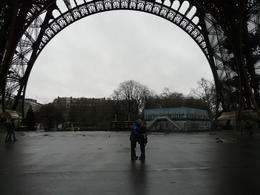 Stan and Fay - after watching an Australian Getaway program in 2010, were told if ever in Paris you have to kiss someone under the Eiffel Tower, who better than with my husband 38 years, taken by ... , Fay N - January 2011