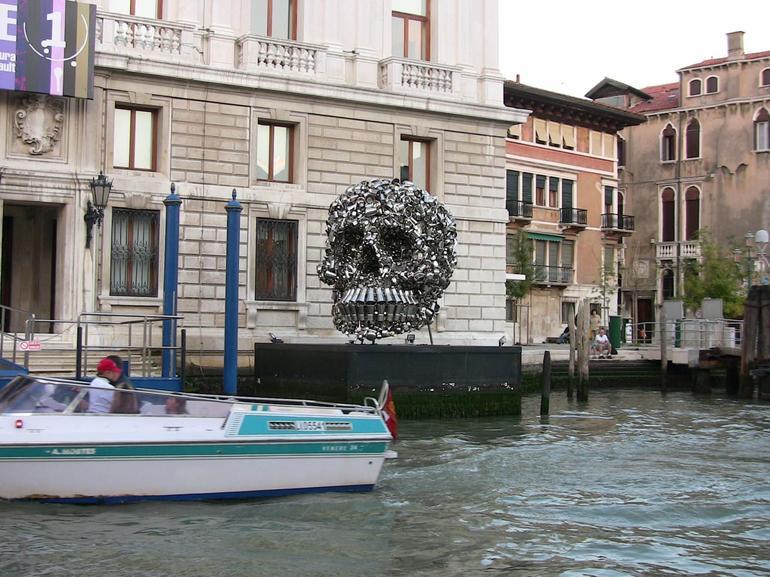 Skull on canal cruise - Venice