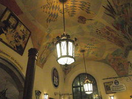 the ceiling of the hofbrauhaus - the final stop on the tour , Sandra H - September 2013